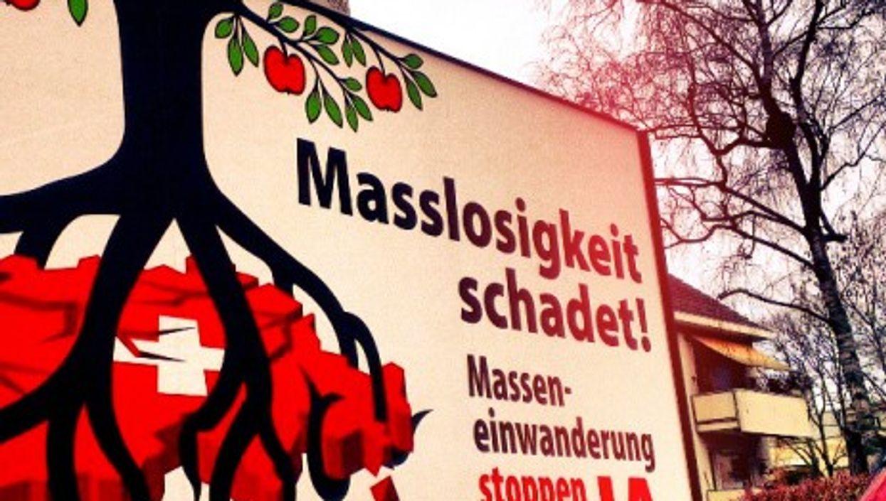A German-language 'Yes' poster