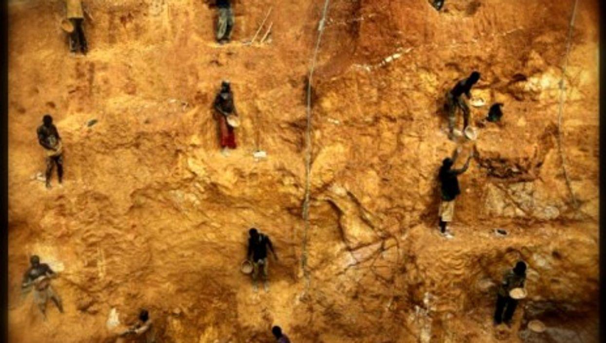 A gold mine in Ghana