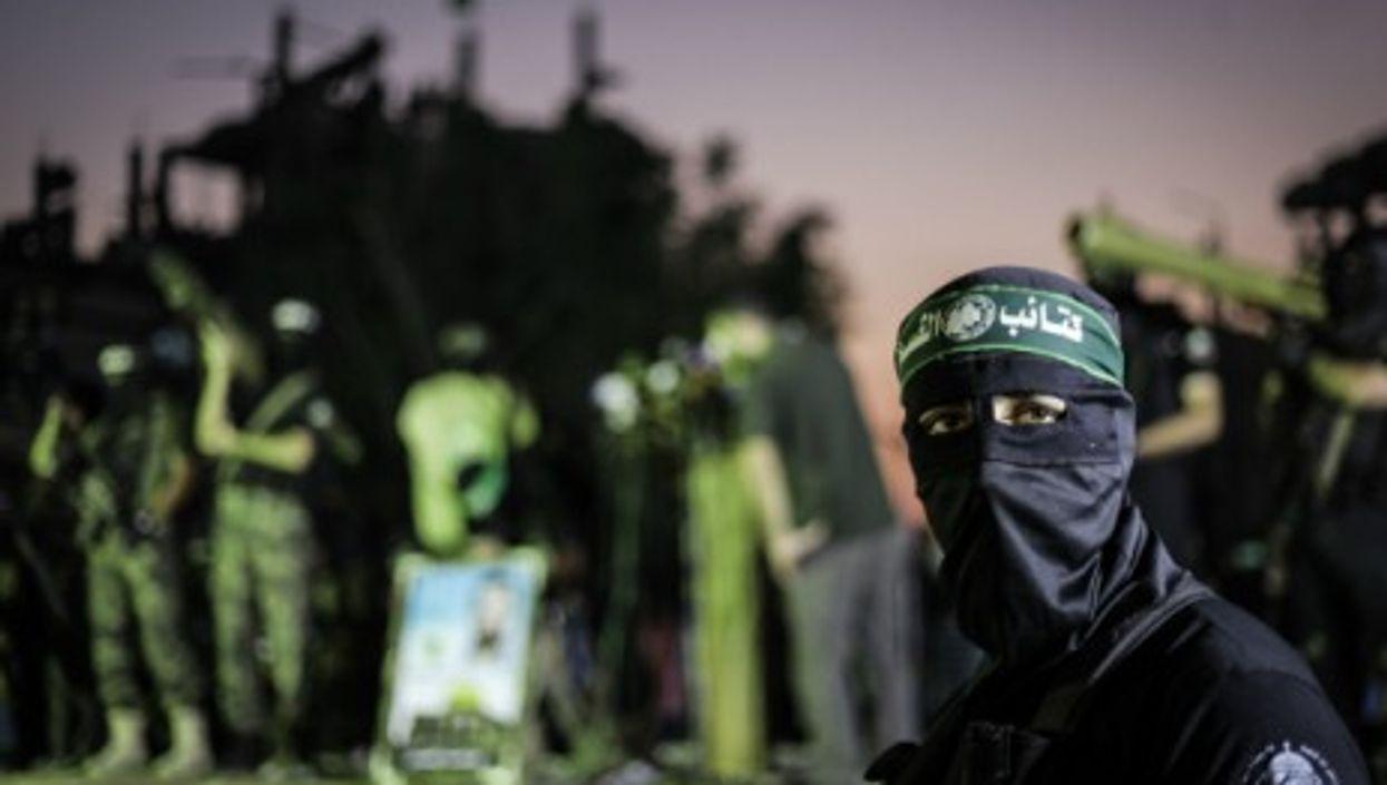 A Hamas parade in Gaza on June 27, 2014