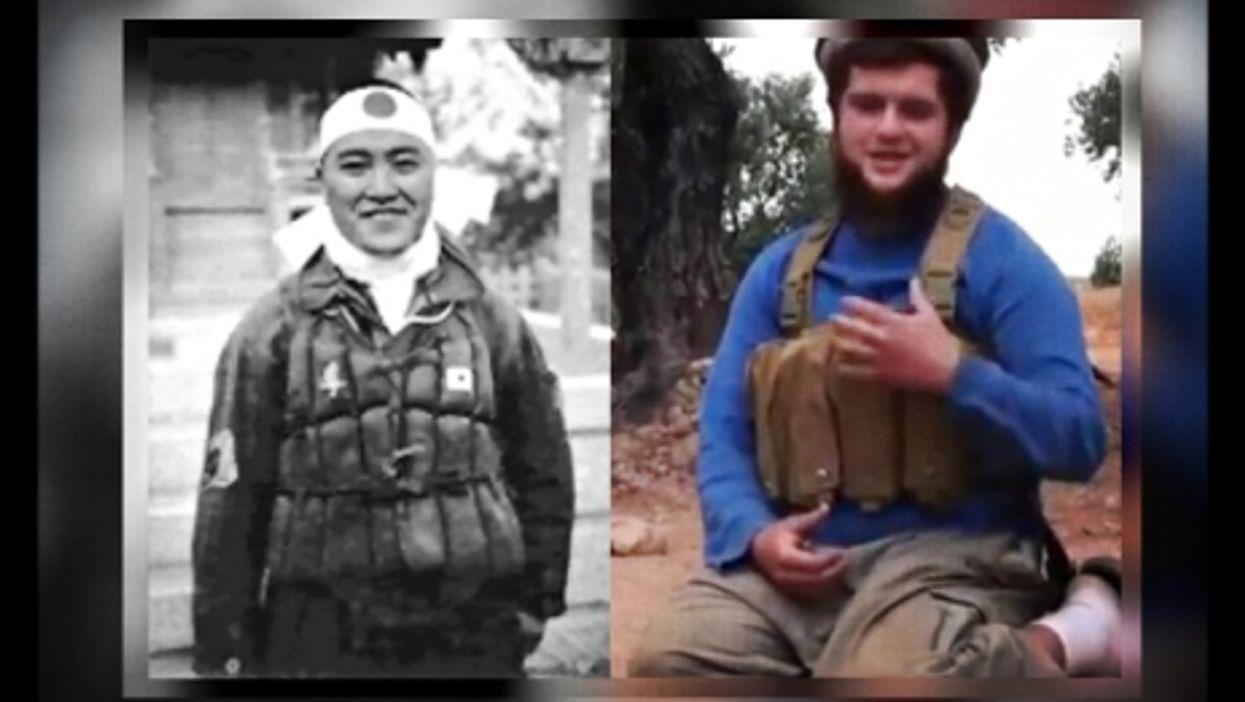 A Japanese WWII kamikaze and an al-Qaeda suicide bomber