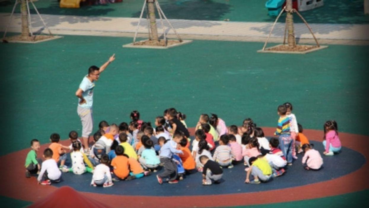 A kindergarten teacher in Xiahogan China