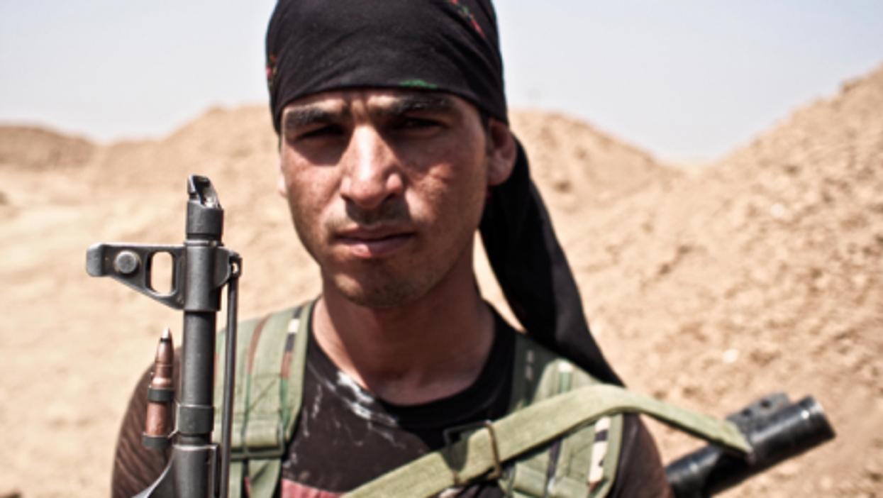 A Kurdish fighter in Syria
