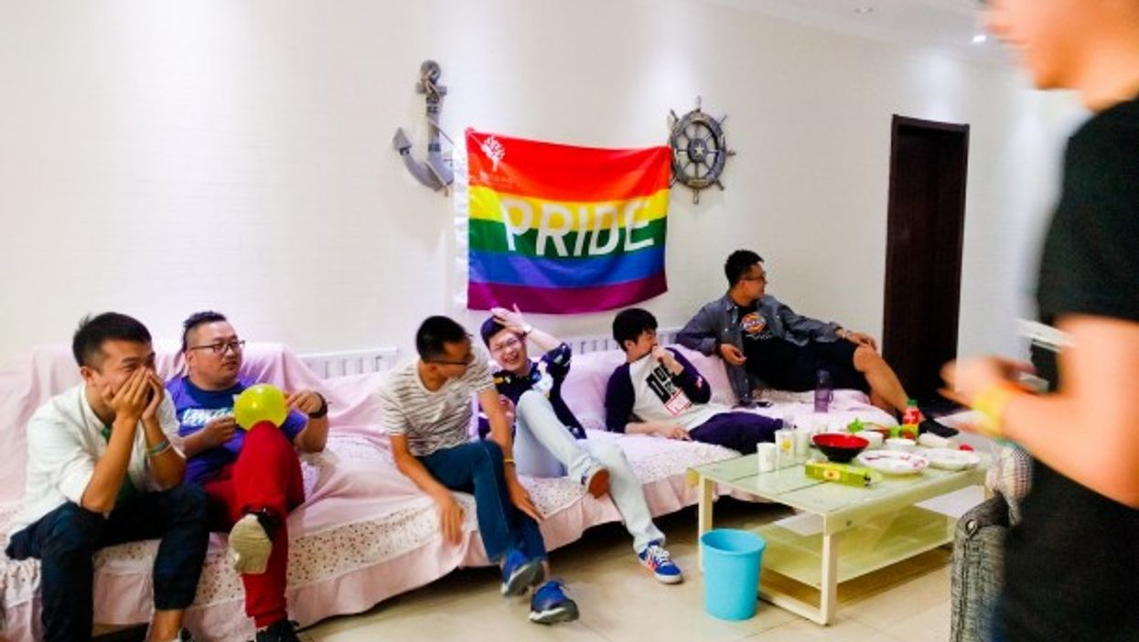 A LGBTQ home party in Beijing, China