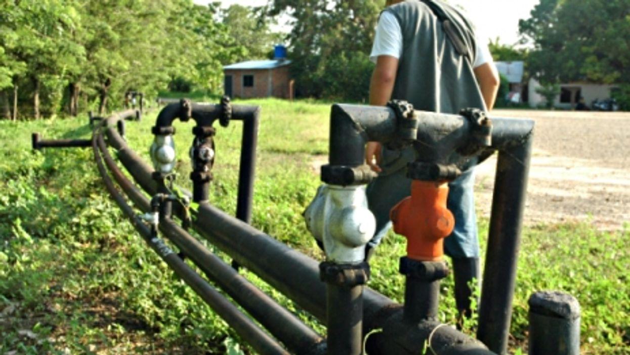 A Mansarovar pipeline in Puerto Boyaca, Colombia