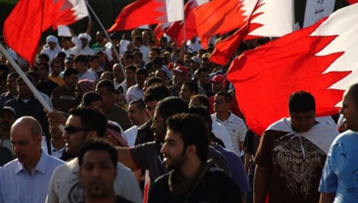 A March 4 protest in Bahrain