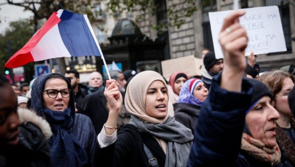A march against Islamphobia in Paris