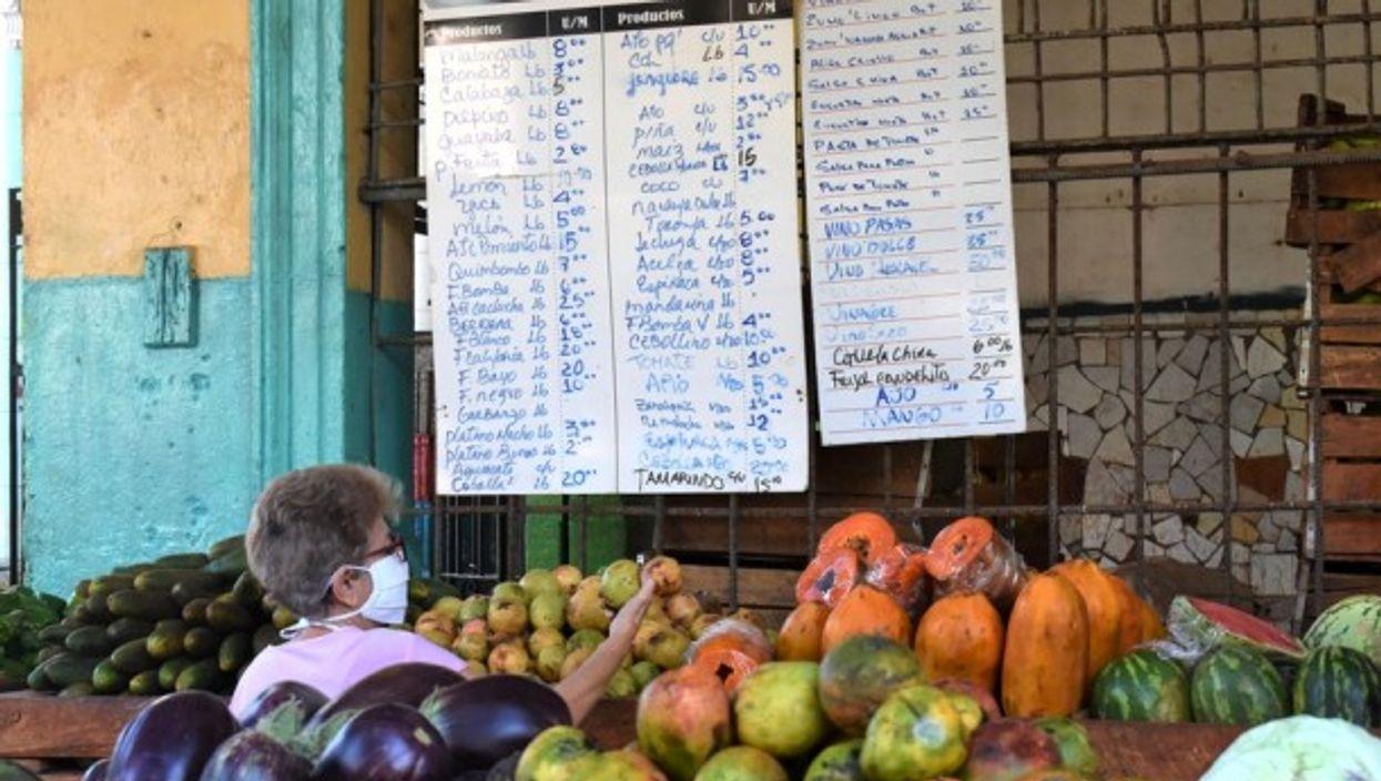 A market in Havana, Cuba