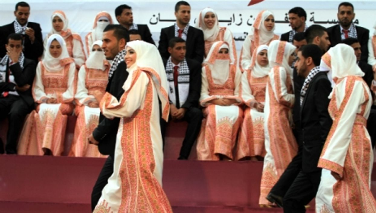 A mass wedding ceremony in Gaza, on April 11.