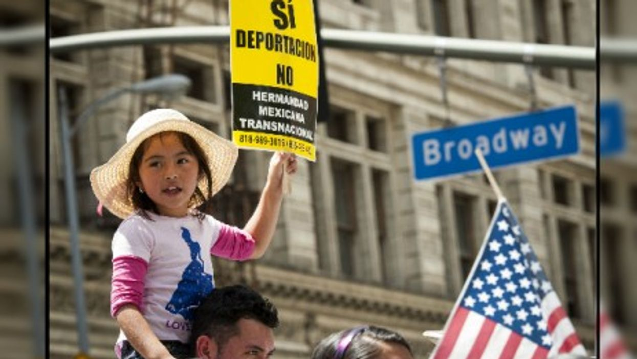 A May 2014 demonstration in support of child migrants in Los Angeles.