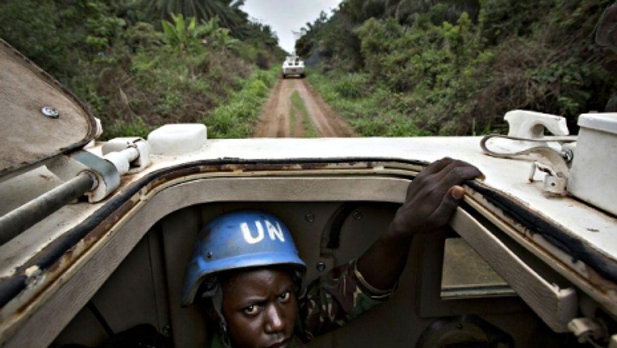 A member of the UN's MONUSCO mission near Beni in March 2014