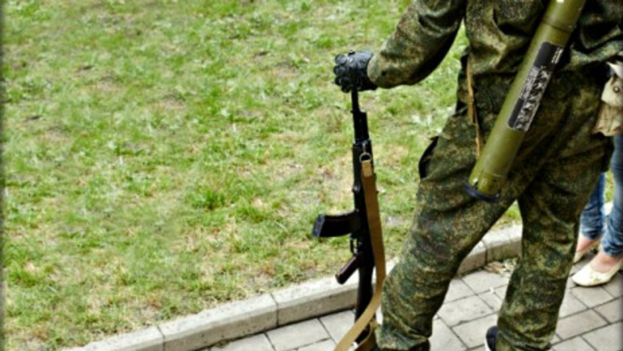 A member of the Vostock Battalion in Donetsk