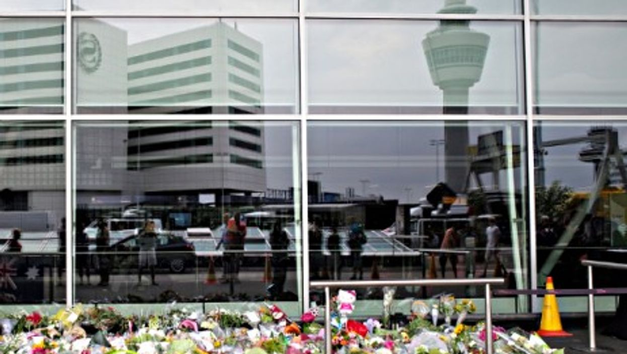 A memorial at Amsterdam's Schipol Airport