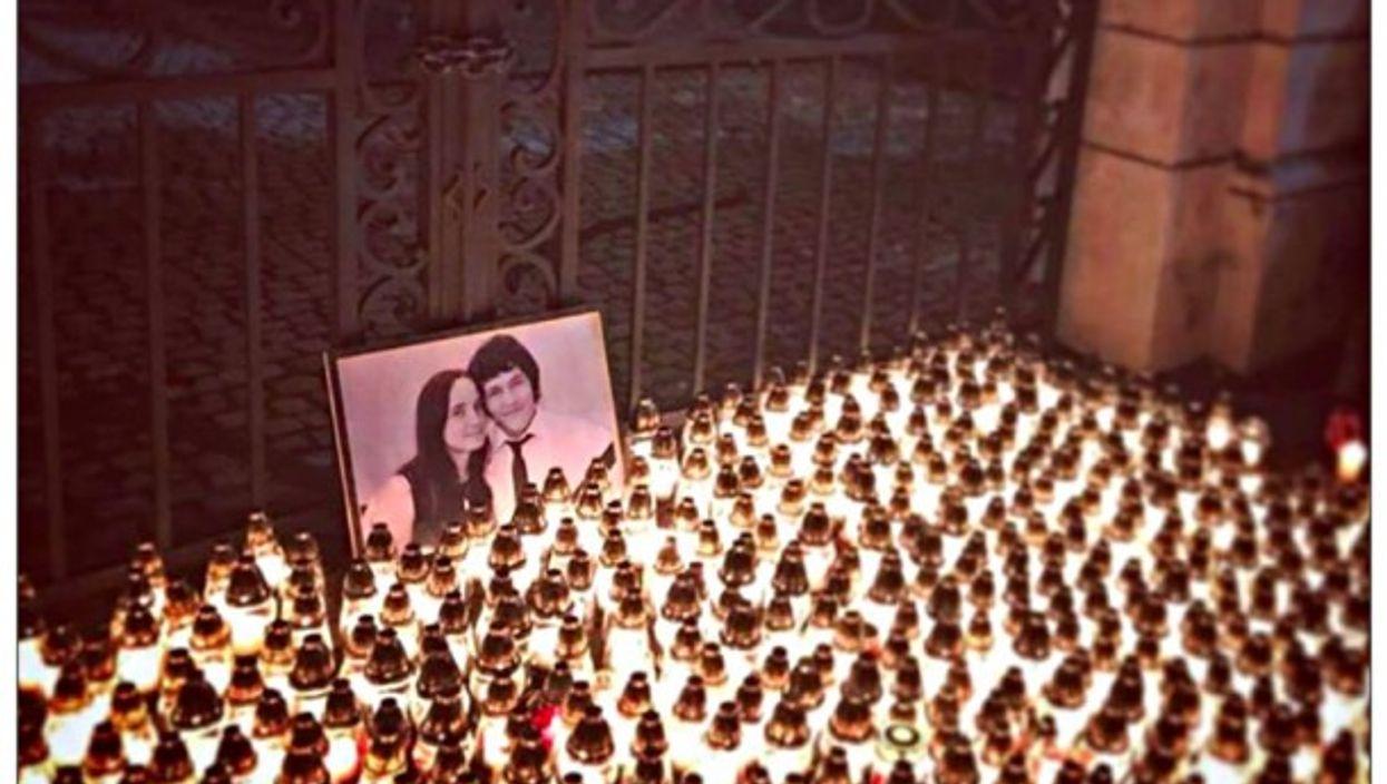 A memorial for Kuciak and Kusnirova