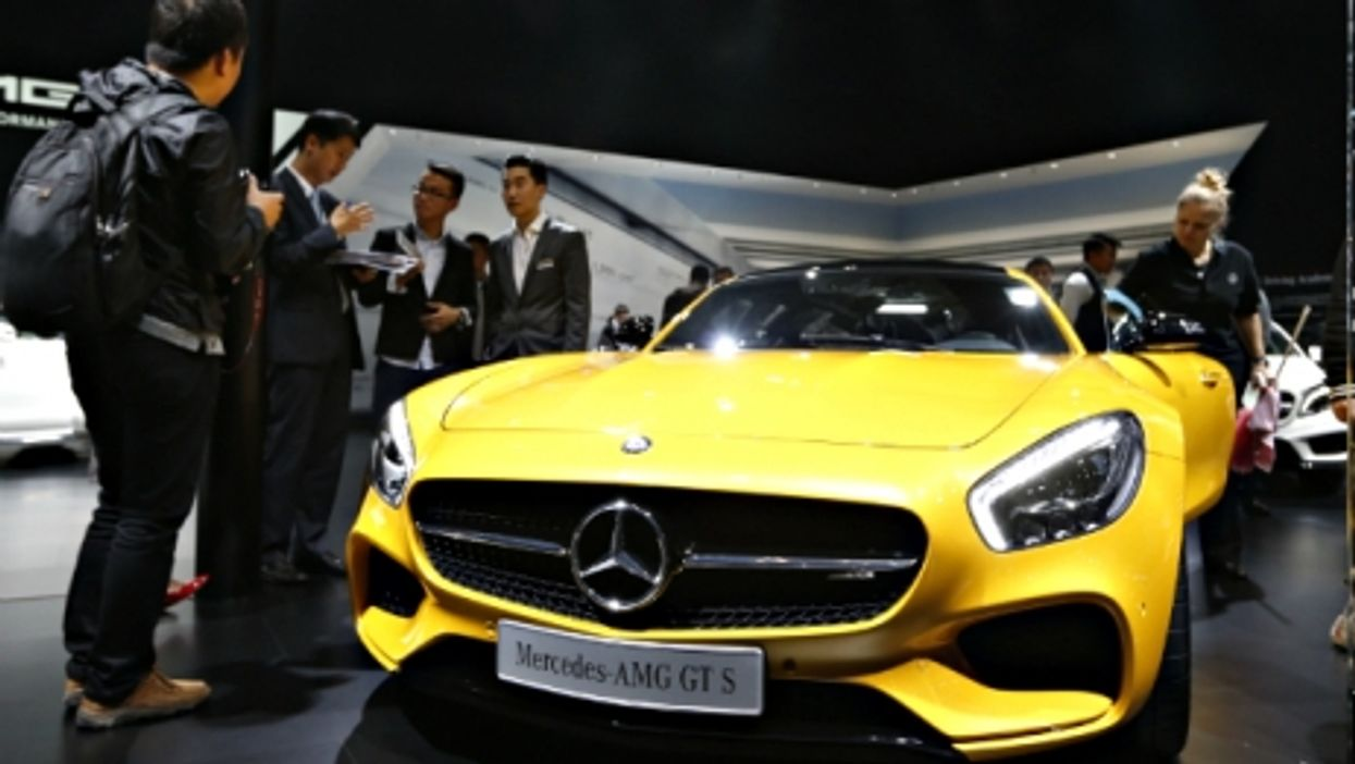 A Mercedes-AMG GT S at the Auto Shanghai 2015 in April
