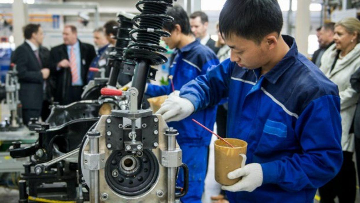 A Mercedes factory in Beijing