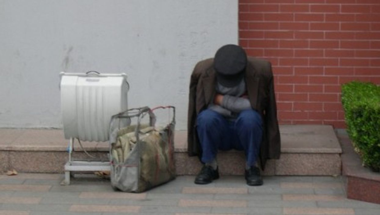 A migrant worker in Shanghai