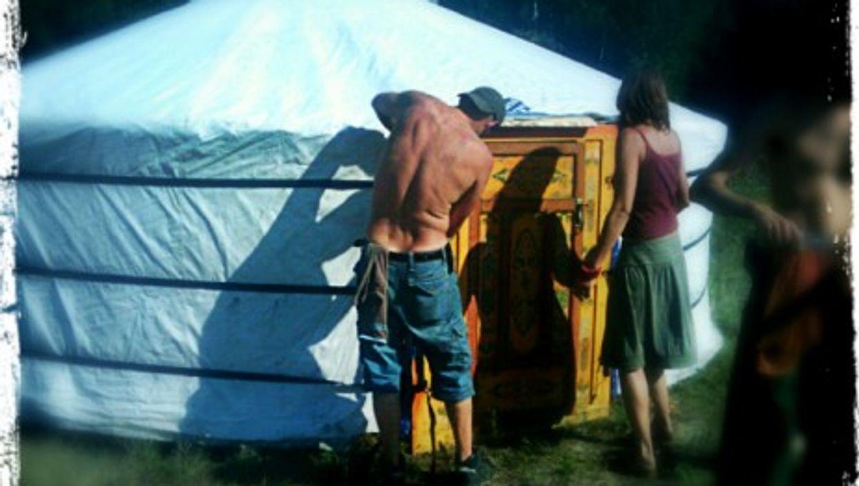 A Mongolian yurt in Germany