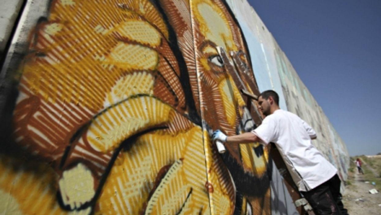 A mural in Ramallah depicting Marwan Barghouti