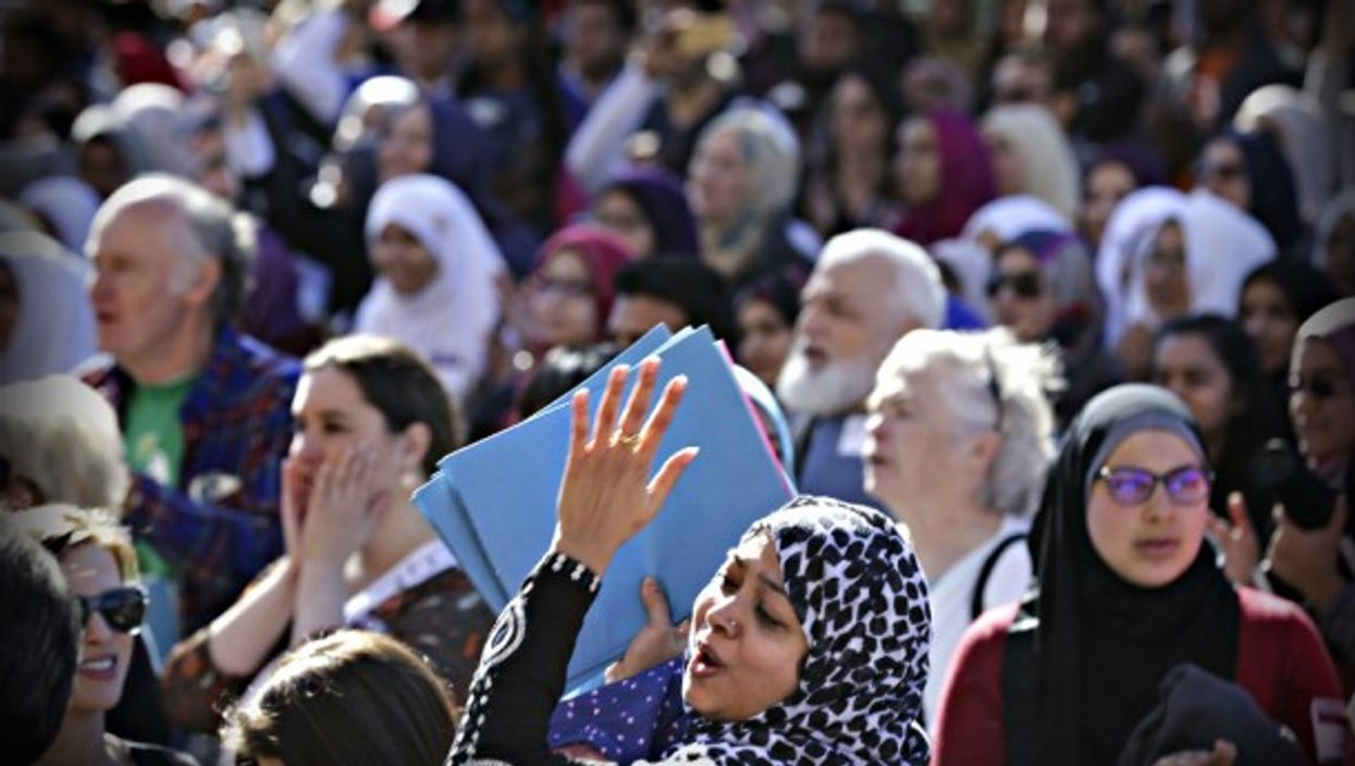 A Muslim-American at a rally in Austin on Tuesday