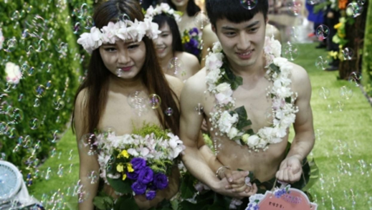 A naked wedding in Hangzhou on April 24