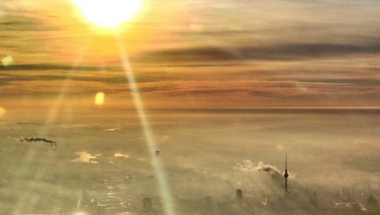 A new day above Berlin