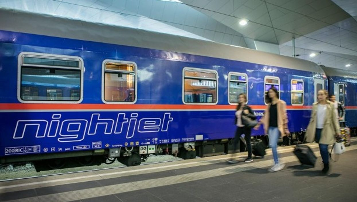 A Nightjet train operated by the ÖBB