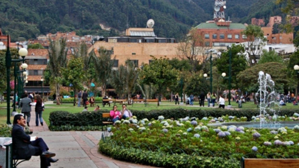 A park in green Bogota