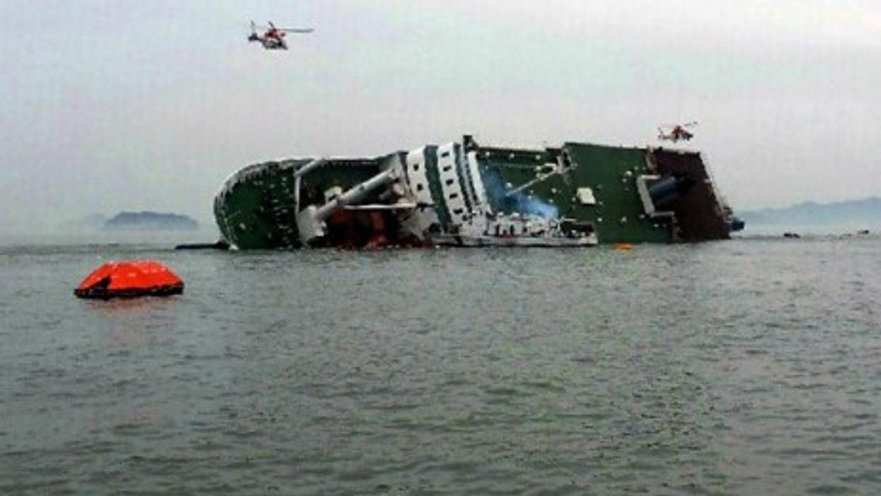 A passenger ship with 477 people aboard sank off South Korea's southwest coast Wednesday morning