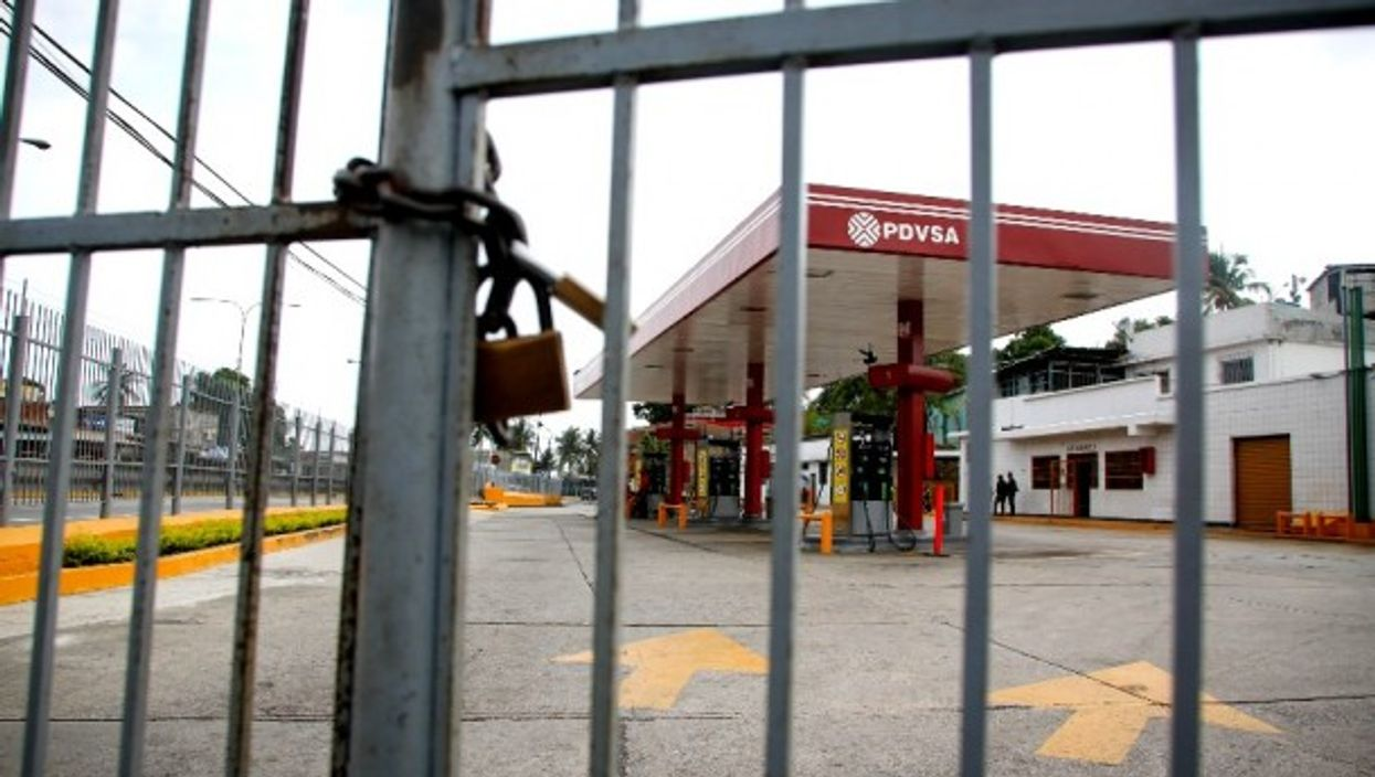 A PDVSA station during a 2019 fuel shortage in Barquisimeto, Venezuela