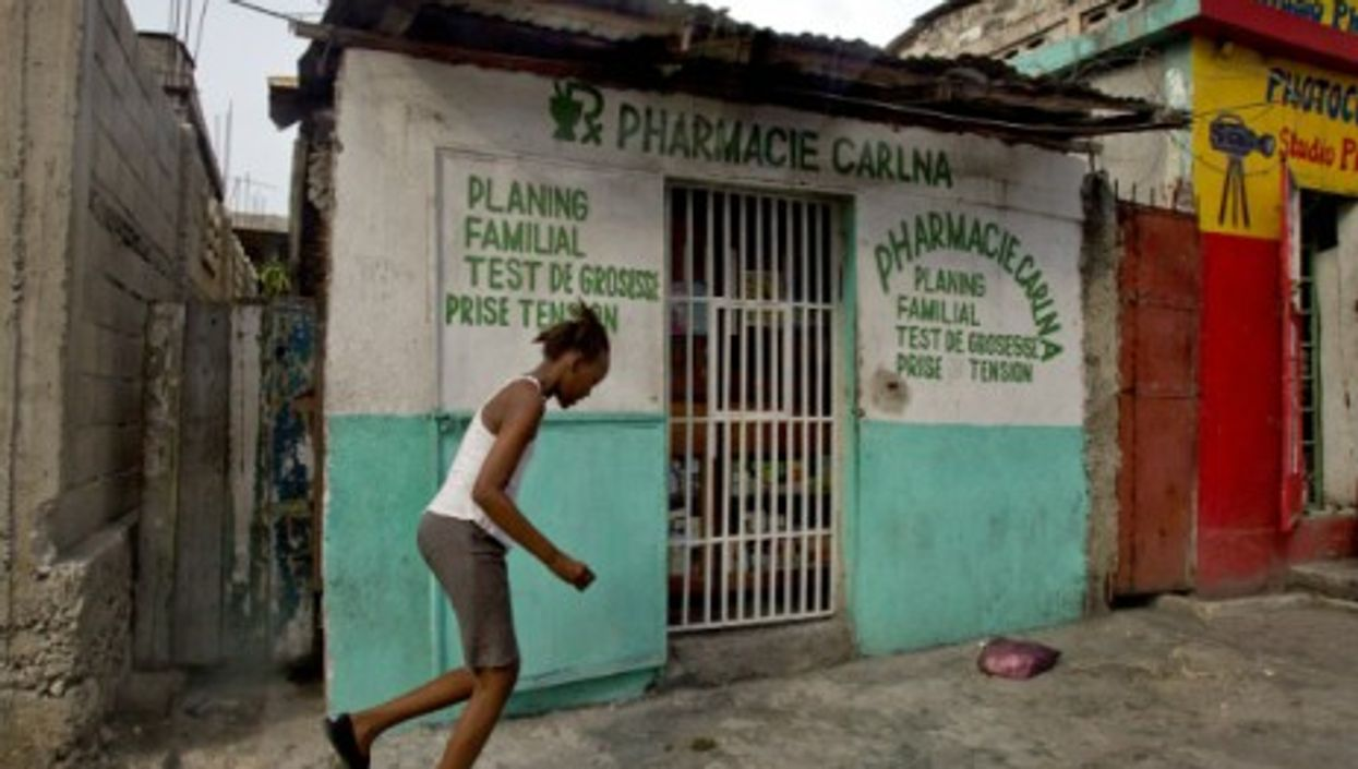 A pharmacy in downtown Port-au-Prince