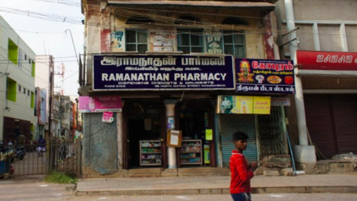 A pharmacy in Madurai, India (Esme Vos)
