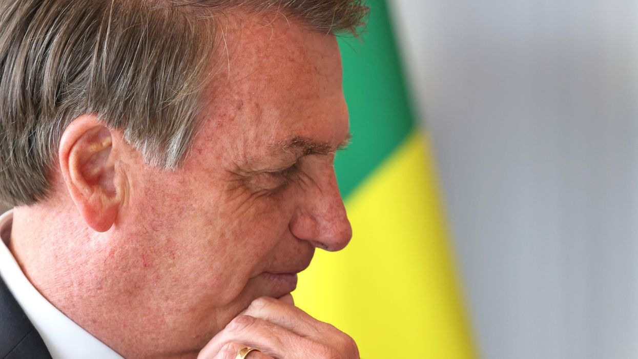 A photo of Brazilian Presiden Jair Bolsonaro