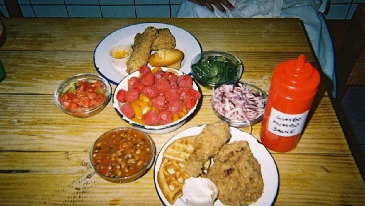 A plate of soul food at Parisian restaurant Gumbo Yaya