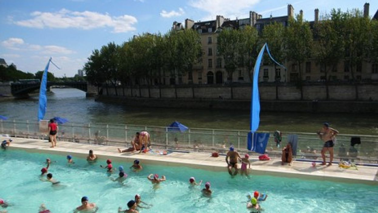 A pool on Paris' banks of the Seine: the closest you'll get to taking a swim in the river?