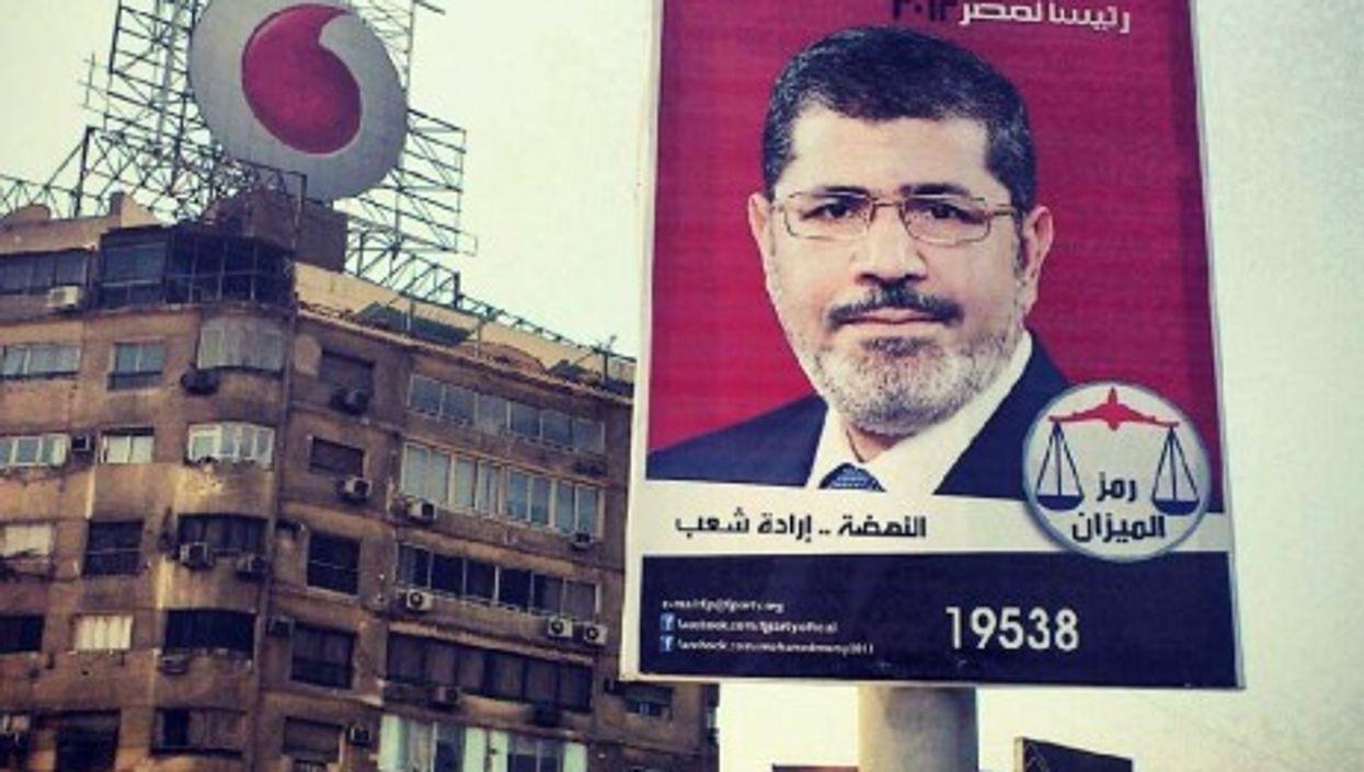 A poster for Muslim Brotherhood candidate Mohamed Morsy (gr33ndata)