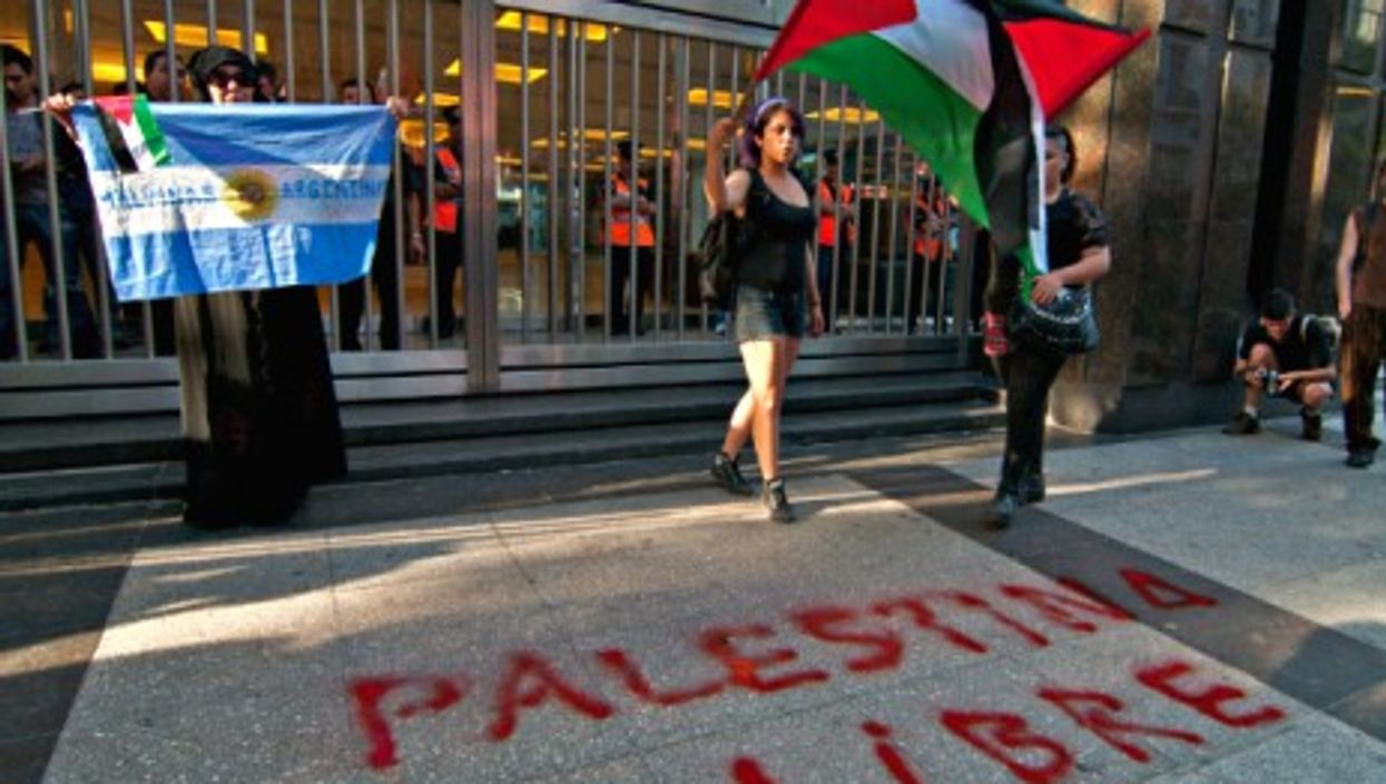 A pro-Palestinian protest in Buenos Aires