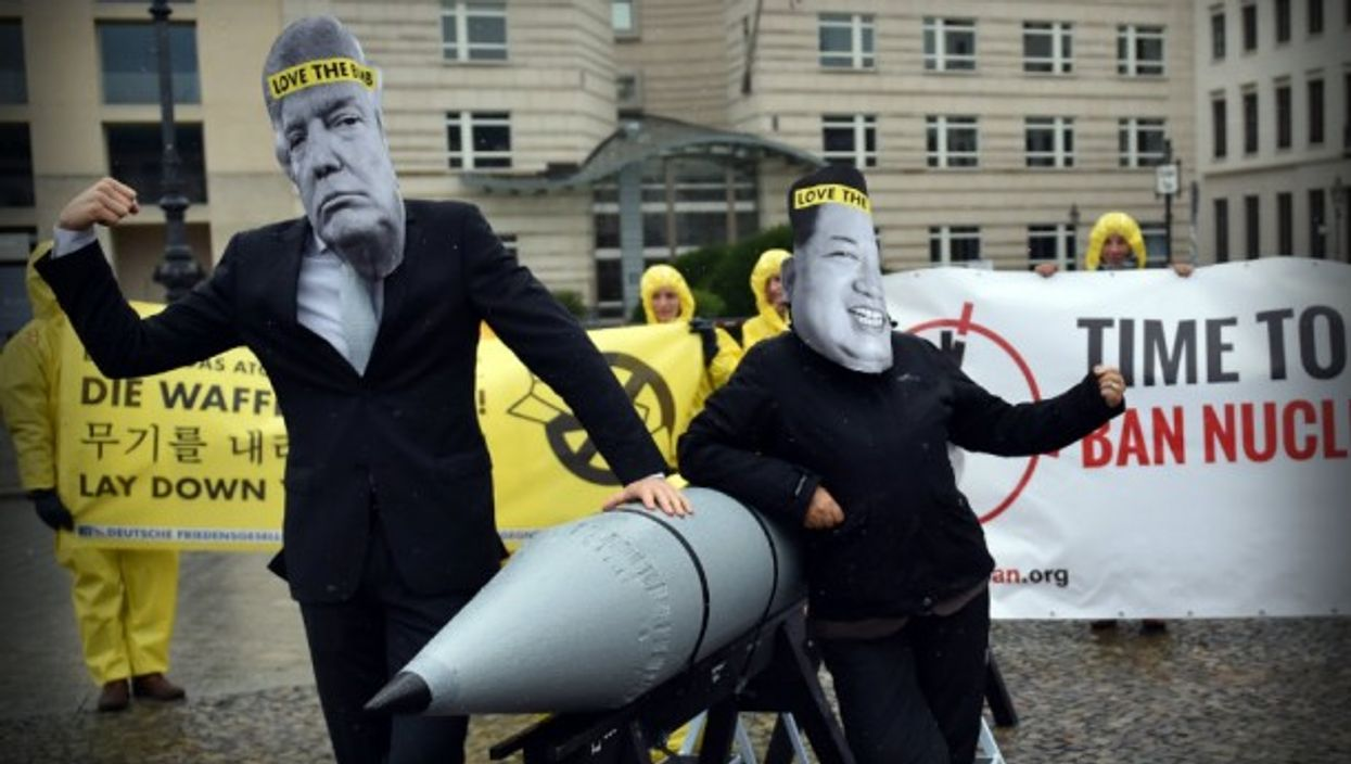 A protest Wednesday in favor of a nuclear ban in Berlin.