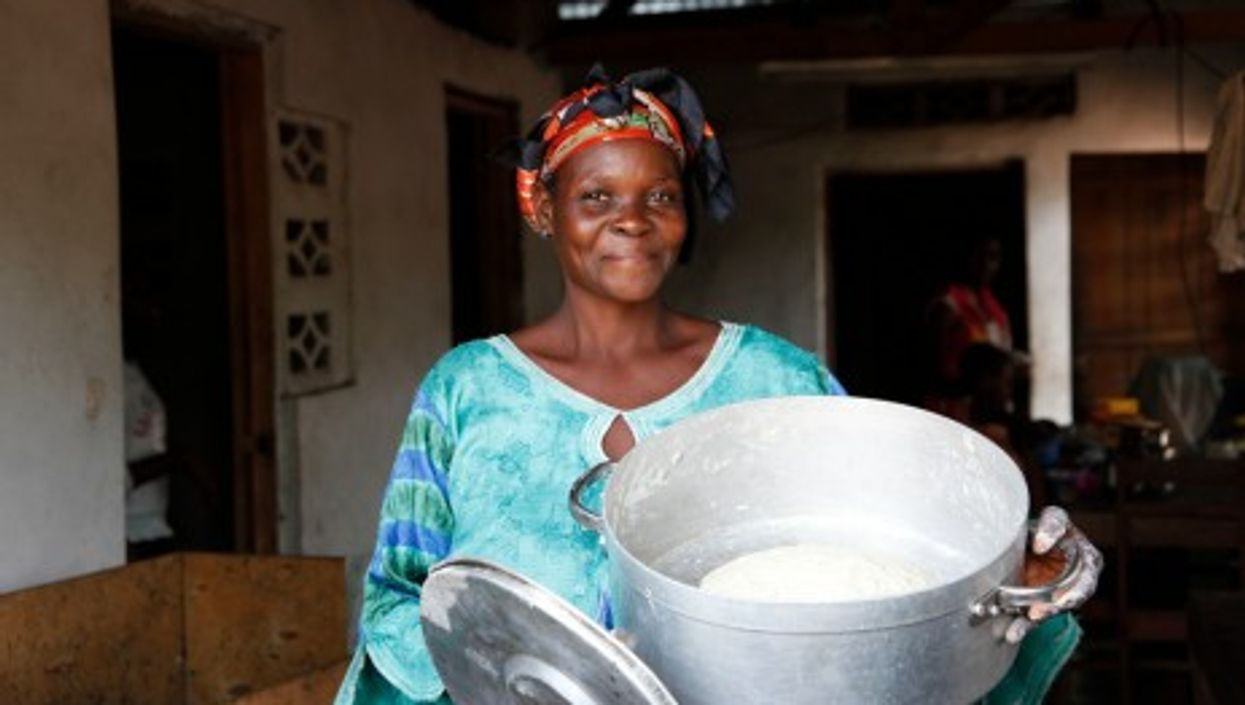 A Proud baker in the Congolese city of Masi Manimba