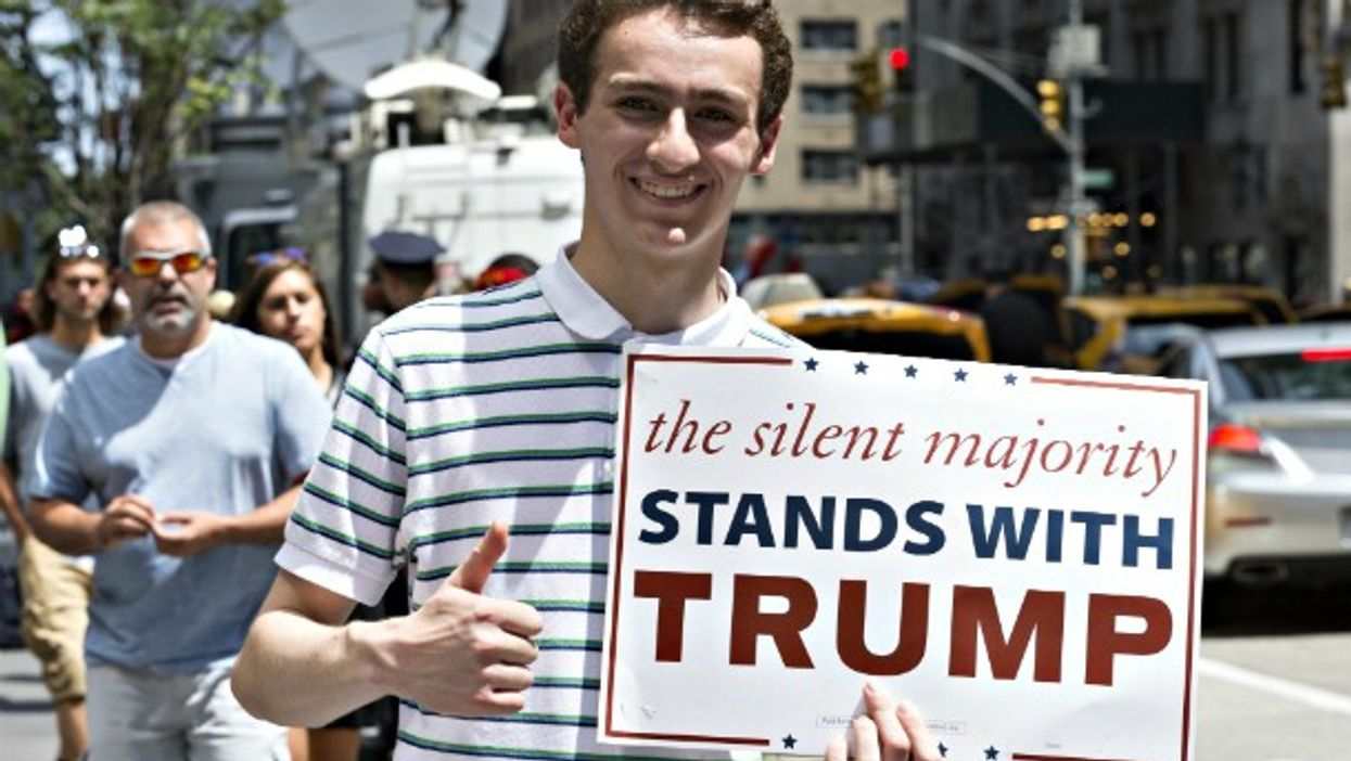 A (rare) young Trump supporter in NYC on July 16