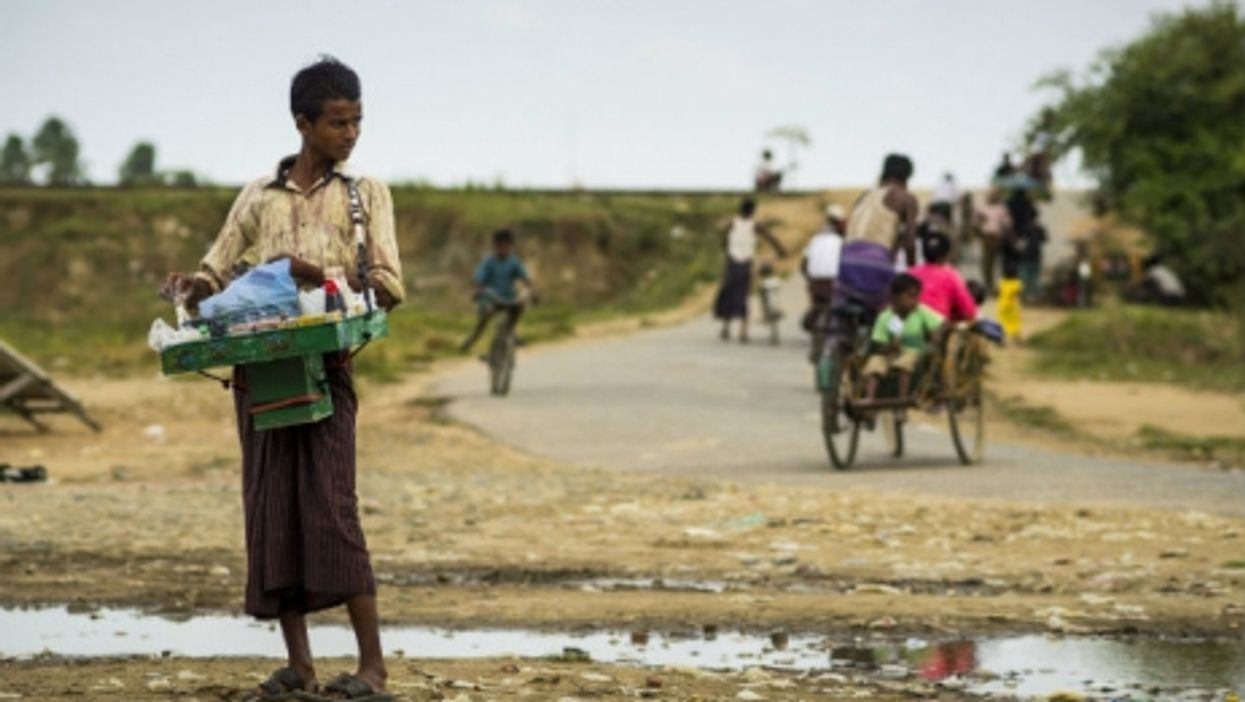A Rohingya teen in a Myanmar camp for displaced persons.