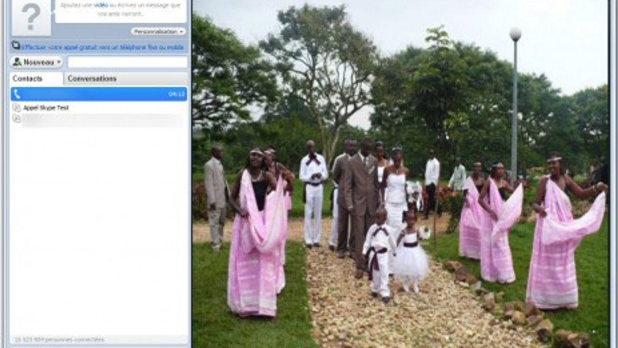 A Rwandan wedding (photo montage)