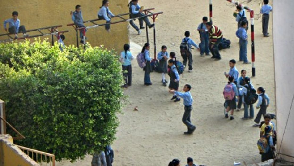 A school playground in Cairo