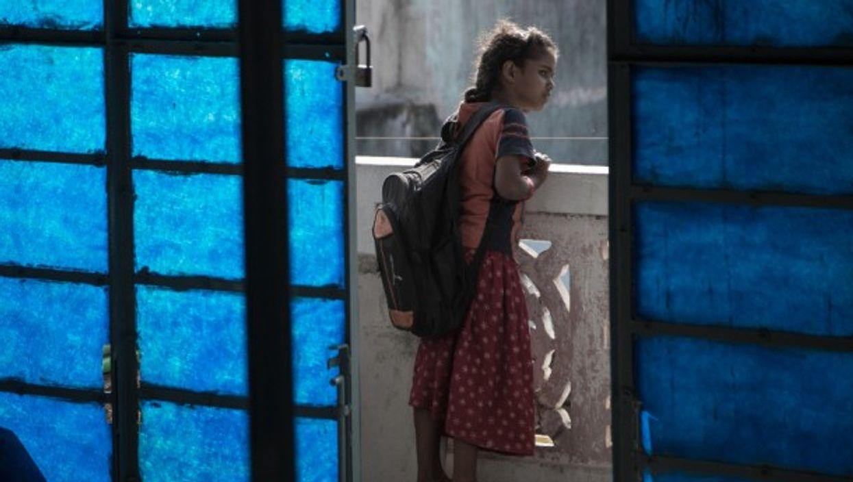 A schoolgirl in Chennai
