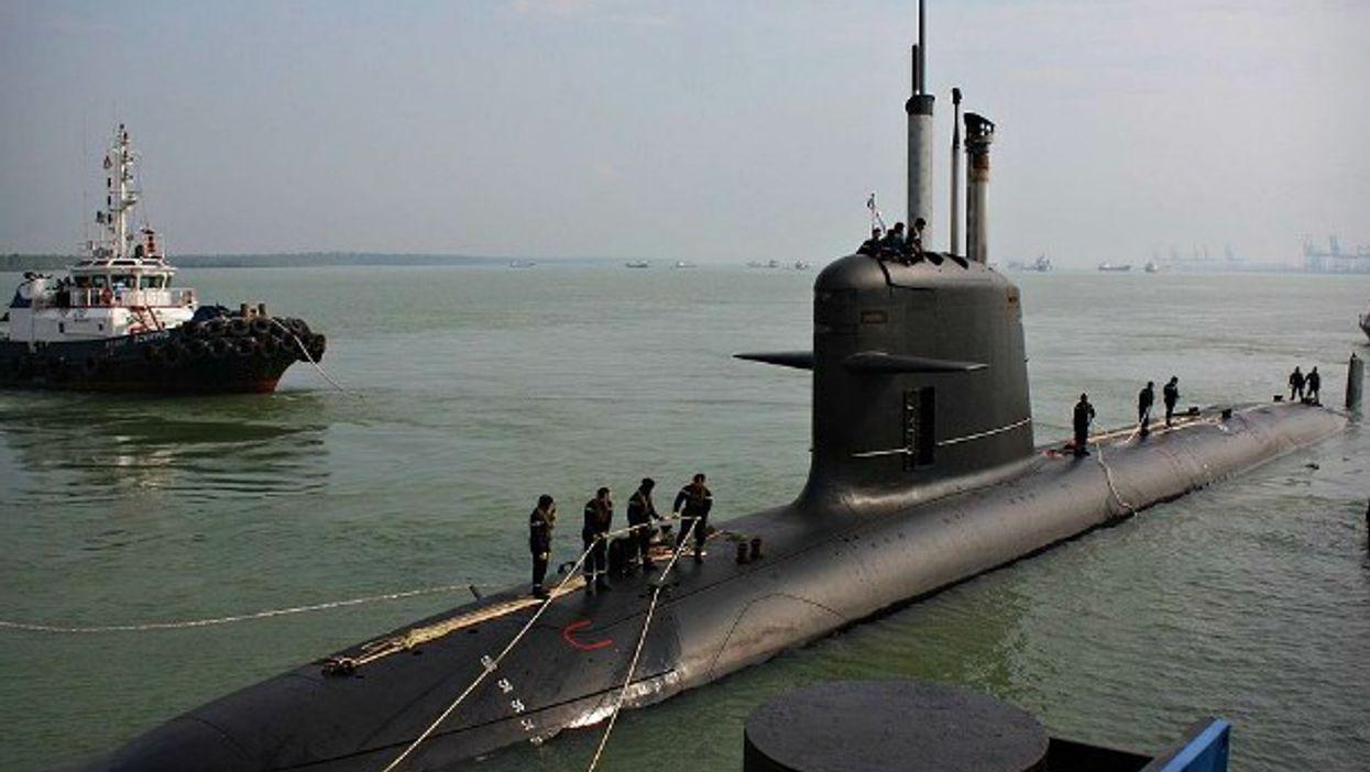 A Scorpene-class submarine in Malaysia