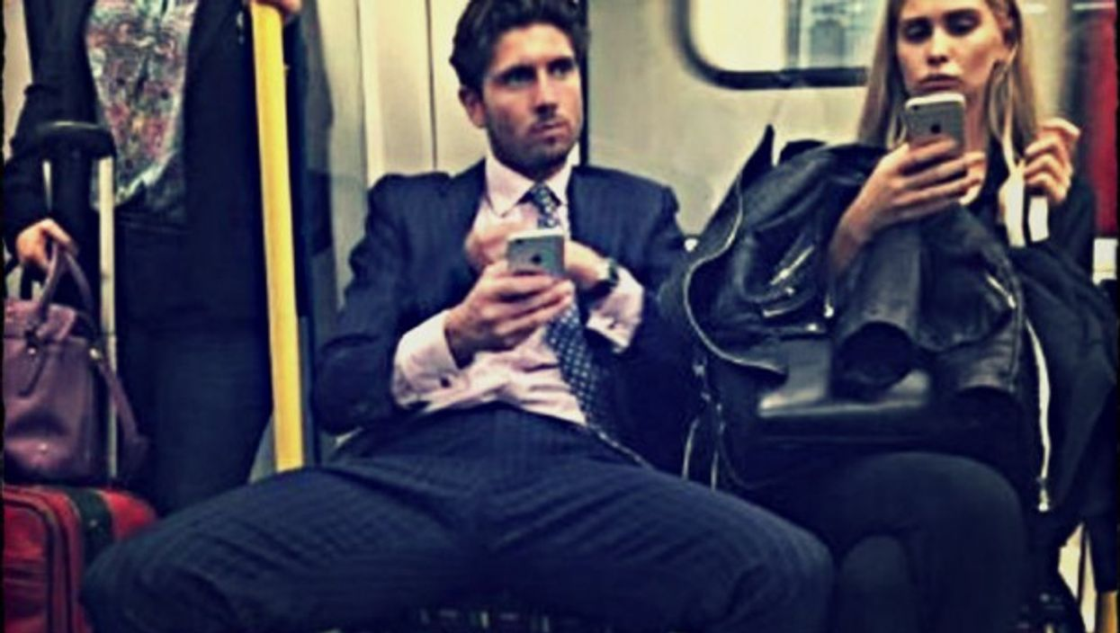 A serious case of metro manspreading...