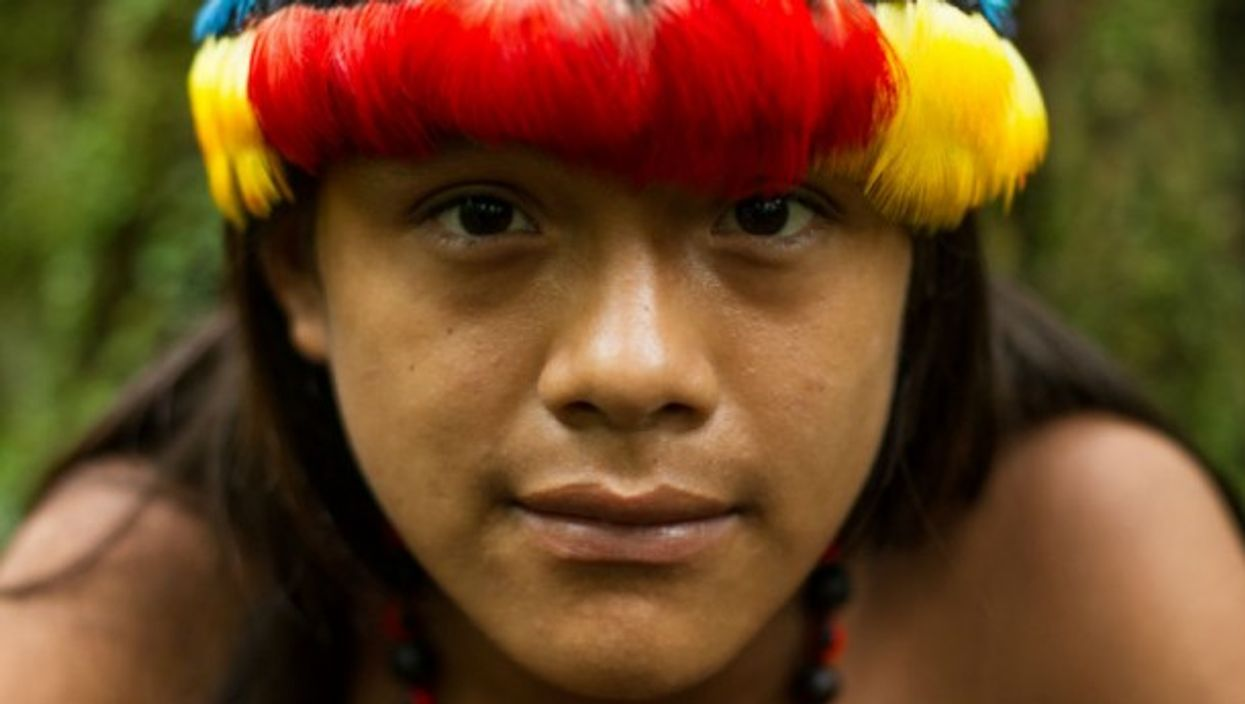 A shaman in the Amazon forest