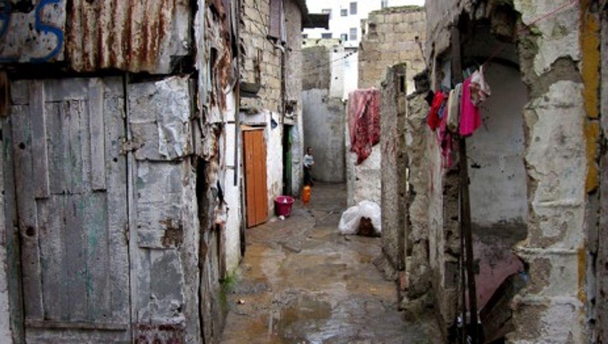 A shantytown in Casablanca