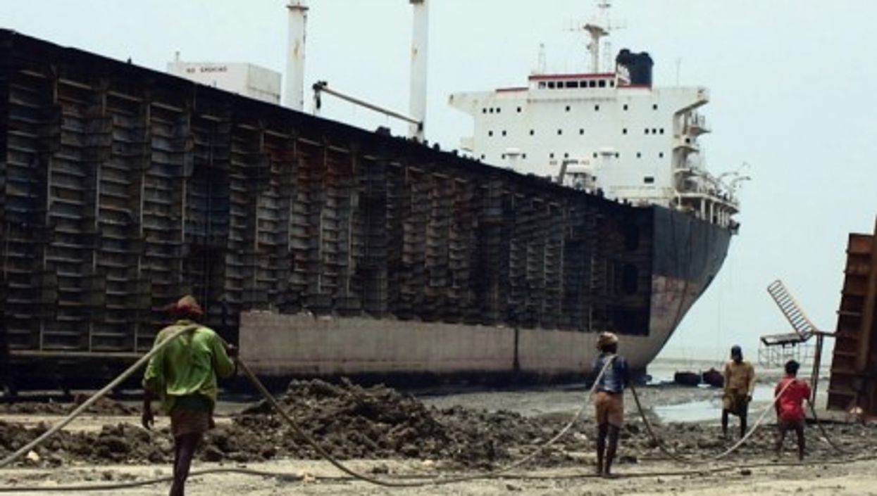 A ship yard in Chittagong, the economic capital of Bangladesh