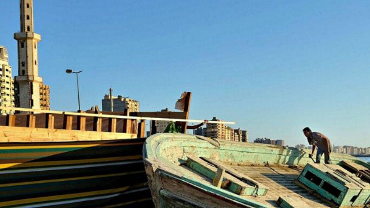 A shipyard in Alexandria