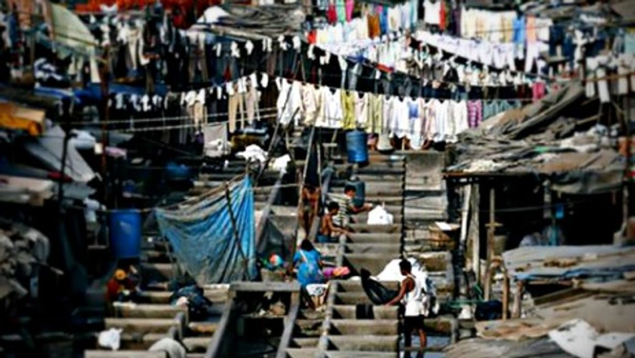 A slum in Mumbai